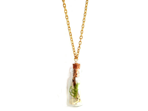 Serpent & Sea Terrarium Vial Necklace