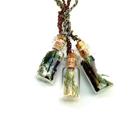 Island, Urchin & Sea Terrarium Vial Necklace