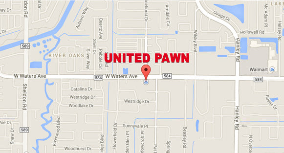 Tampa Map of United Pawn Location