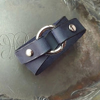 Jul - Tiny Ring Leather Shawl Cuff