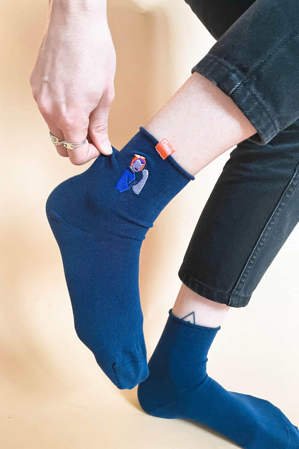 Chaussettes - We Can Do It - Bleu Marine