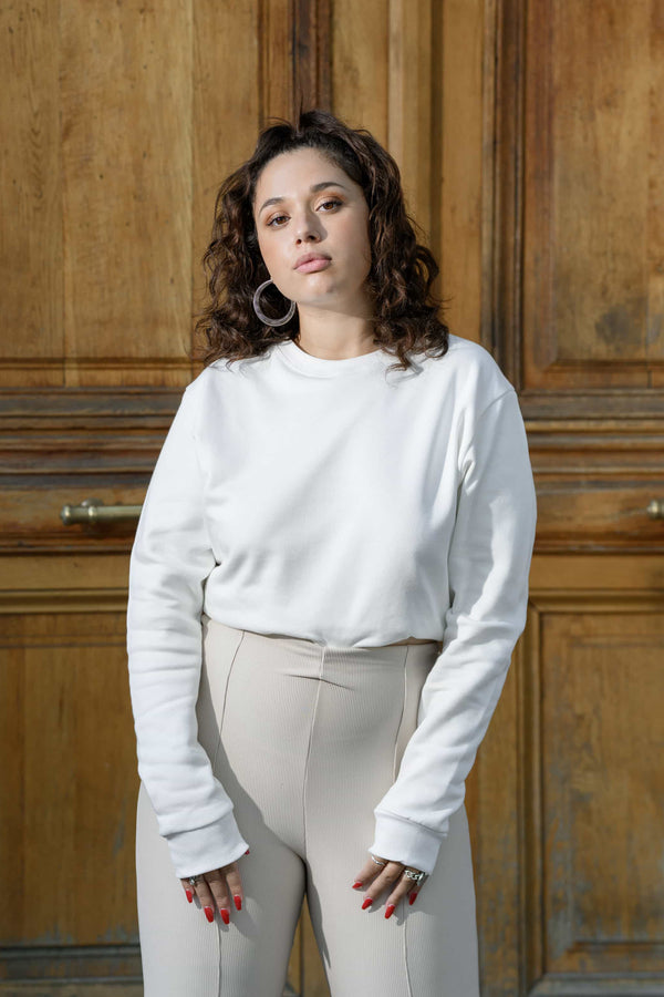 Sweat - LE basique blanc by Meuf