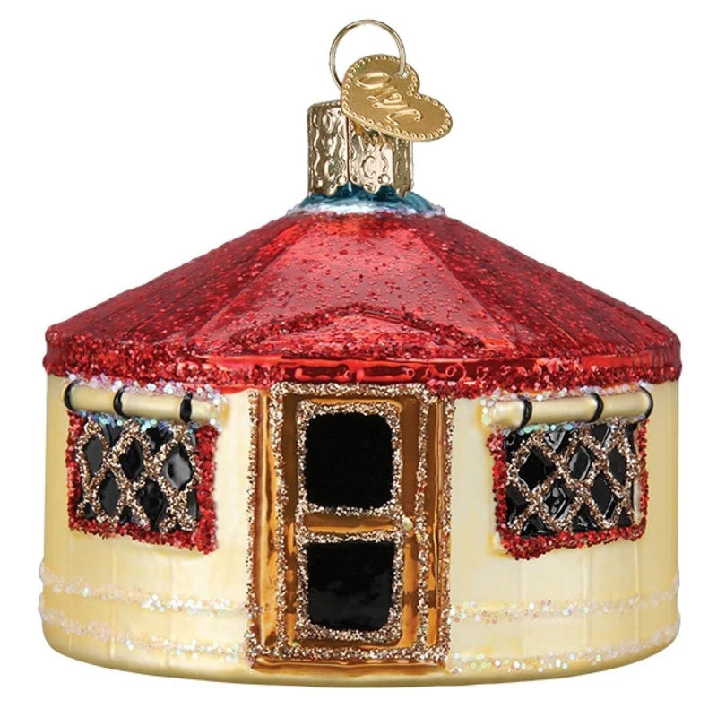 Yurt Glass Ornament - Shelburne Country Store