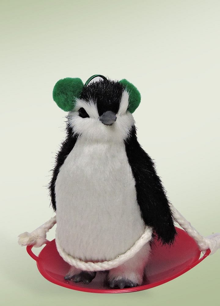 Byers Choice Penguin on Snow Saucer