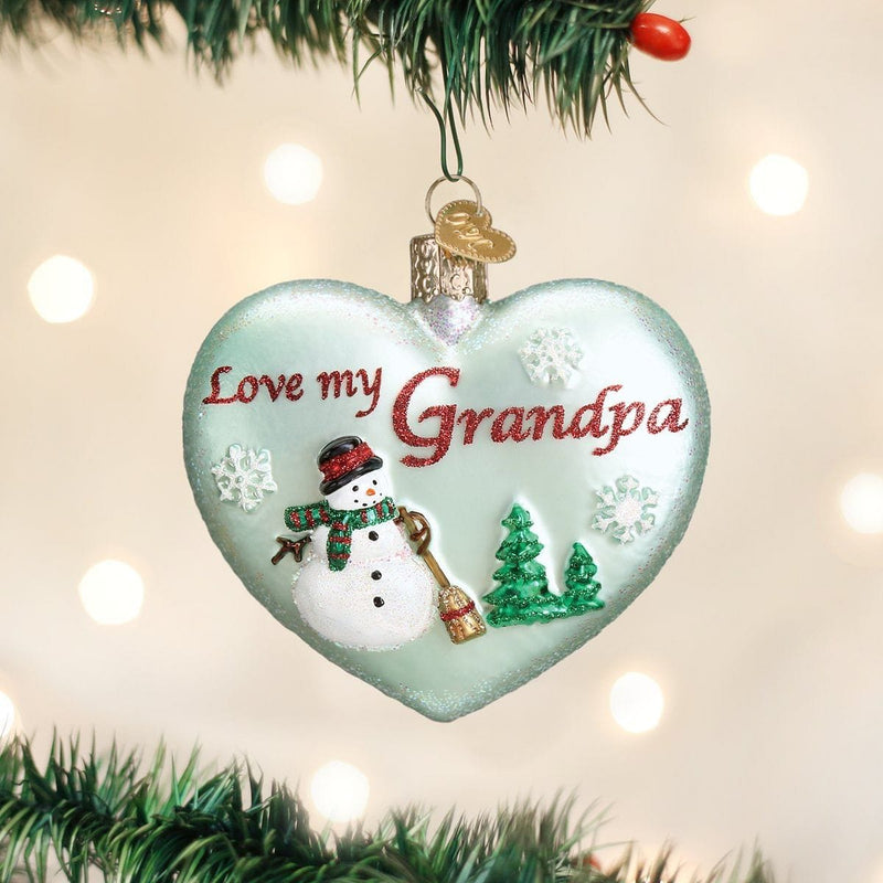 Old World Christmas Grandpa Heart