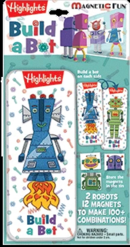 Magnetic Fun Mini Tin: Highlights - Build a Bot - Shelburne Country Store
