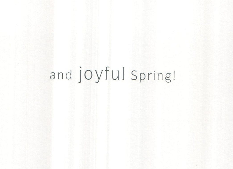 Happy Easter, joyful Spring Easter Card