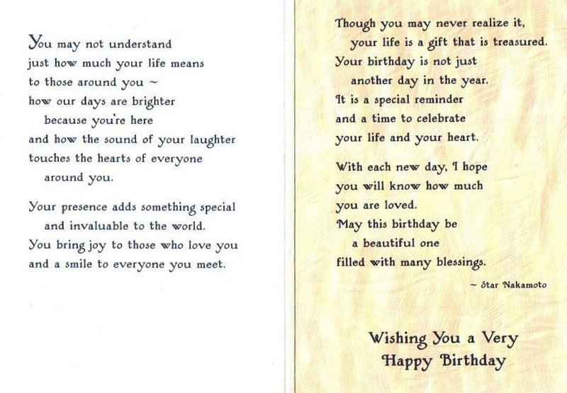 On Your Birthday I Hope You Know - Card