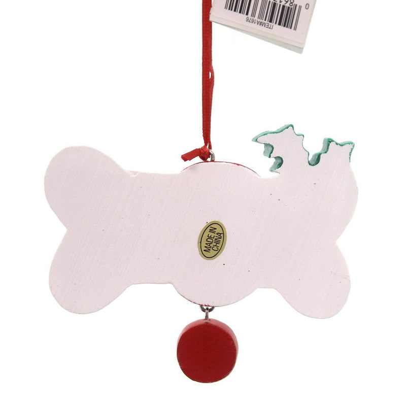 Holiday Ornaments Spoiled Rotten Dog Bone Ornament