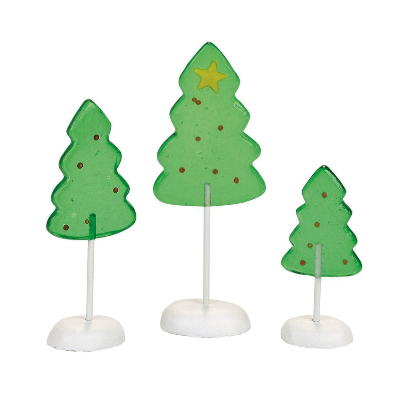 Department 56 Candy Corner Trees Acessory Figurines (Set Of 3)