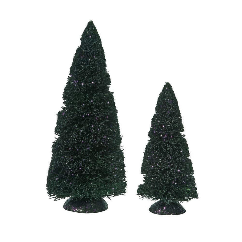 Department 56 Purple Git Sisal Tree - S/2