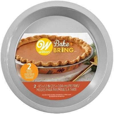 Bake and Bring Autumn Print 8.5-Inch Non-Stick Pie Pans, 2-Count - Shelburne Country Store