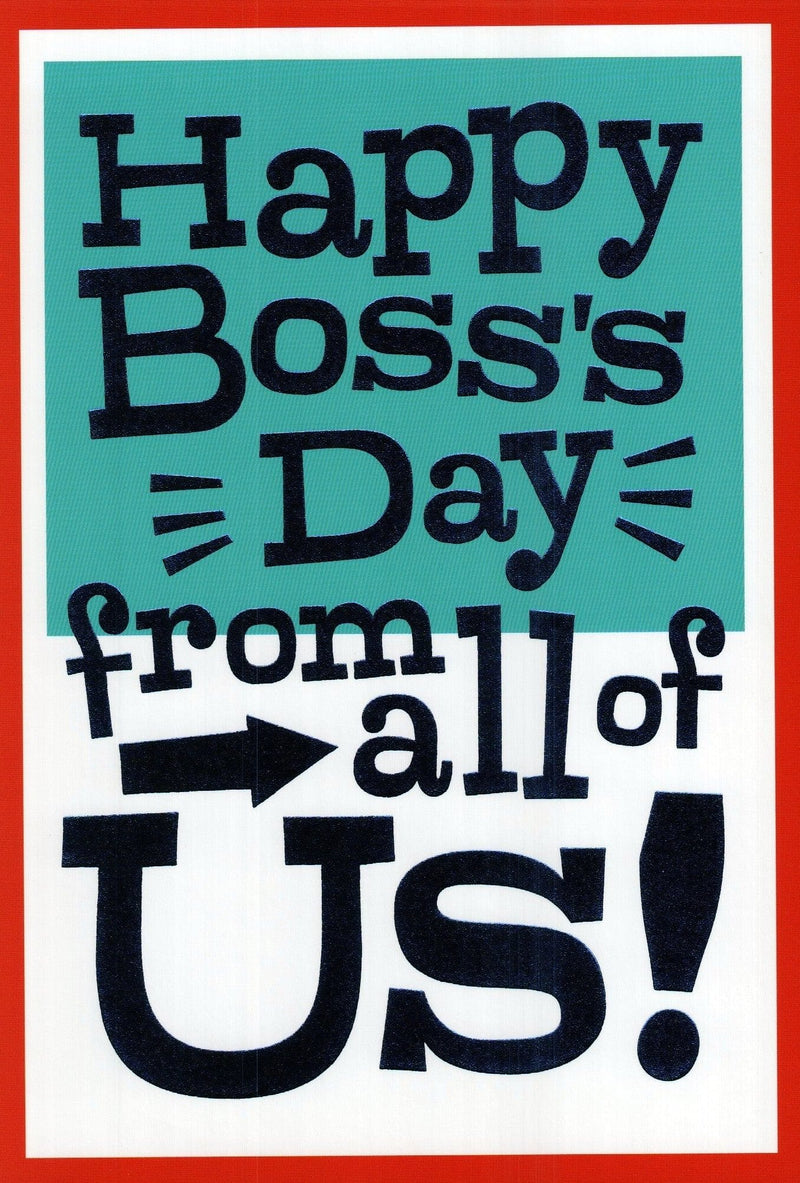 Boss's day from all of us