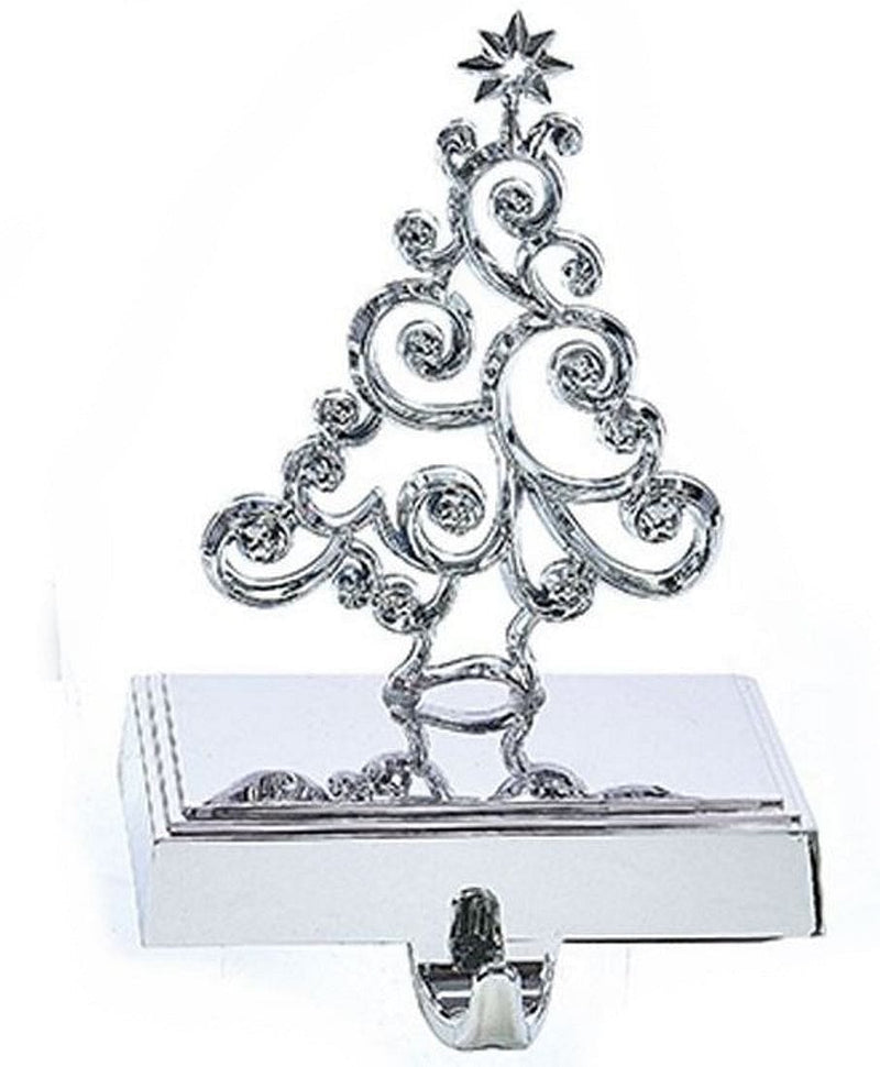 Silver Metal Design Stocking Hanger -