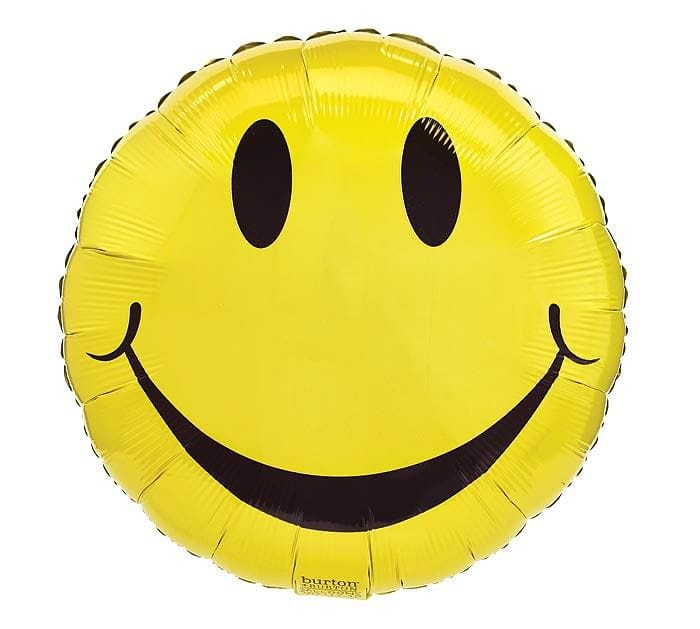 Yellow Smiley Face Foil Balloon - Shelburne Country Store