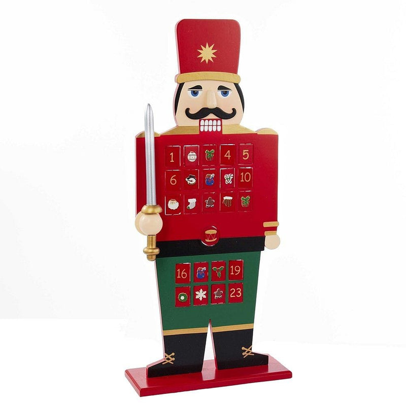 Kurt Adler Wooden Advent Calendar Nutcracker, 22-Inch