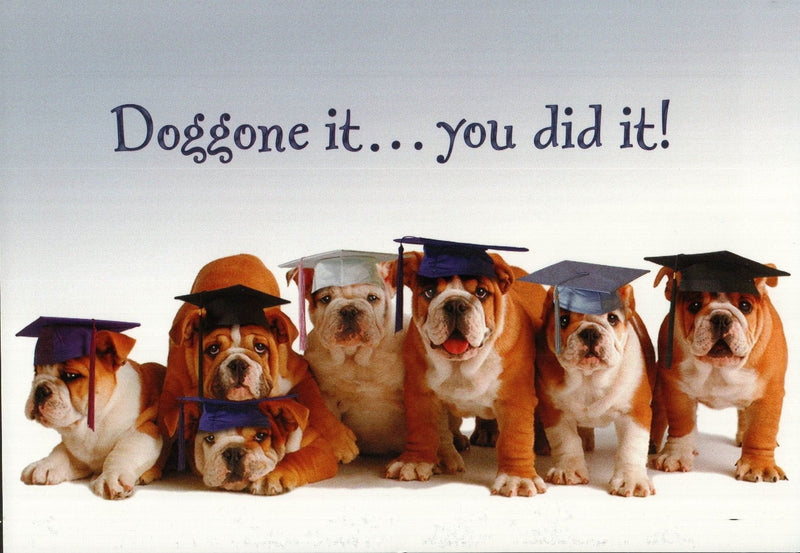 Doggone It Graduation Card