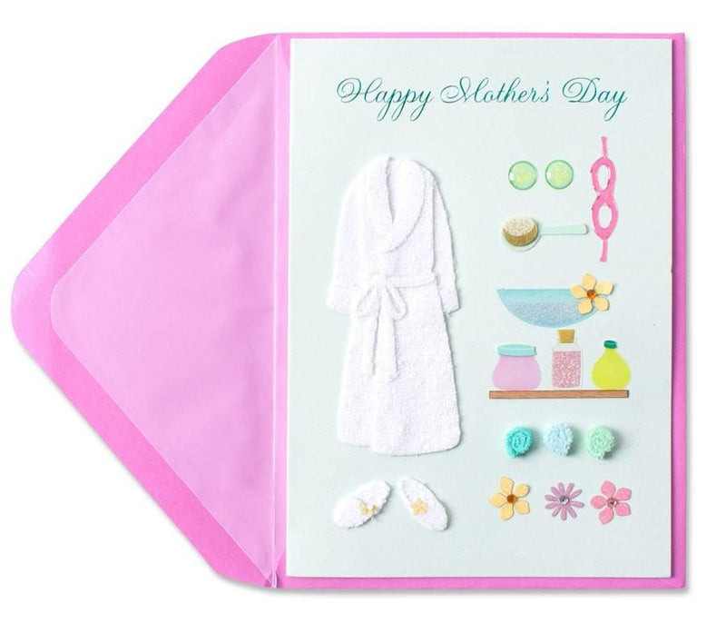 Spa Outfit  Mothers Day Card