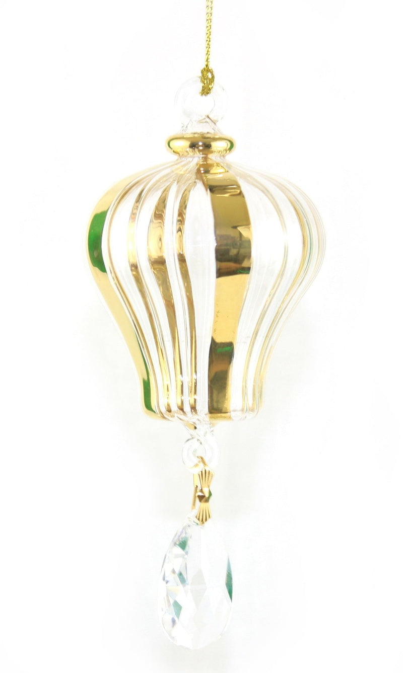 Blown Egyptian Glass Gold Hot Air Balloon - Shelburne Country Store