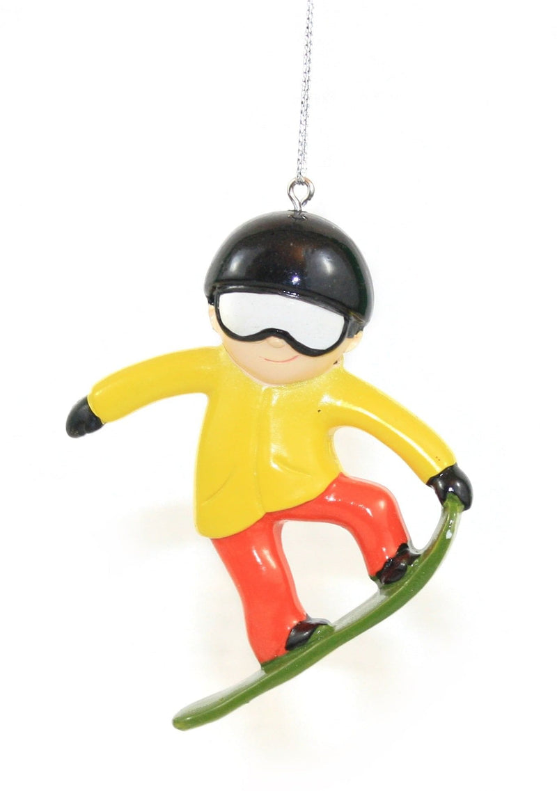 Snowboarder Resin Hanging Christmas Ornament