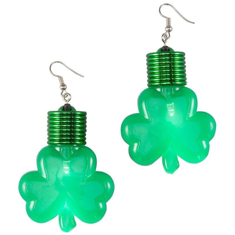 Jumbo Shamrock Lite Up Earring