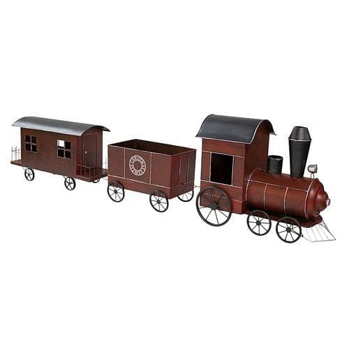 3 Piece Metal Train Set - 80 X 20 X 11
