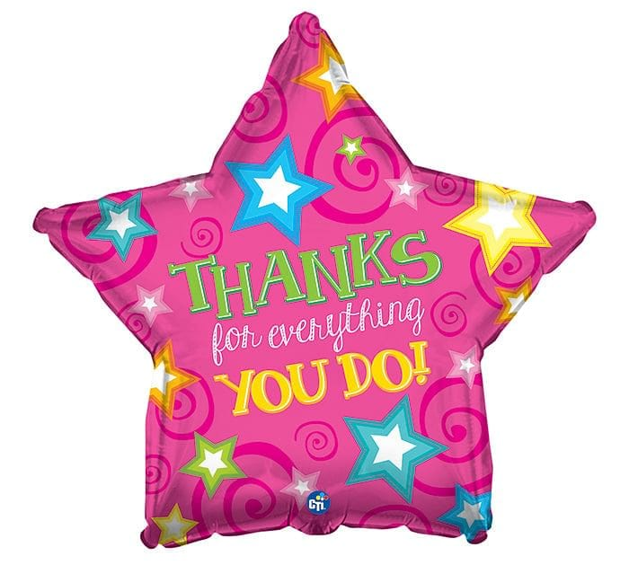 Thanks For Everything You Do Foil Mylar Balloon - Shelburne Country Store