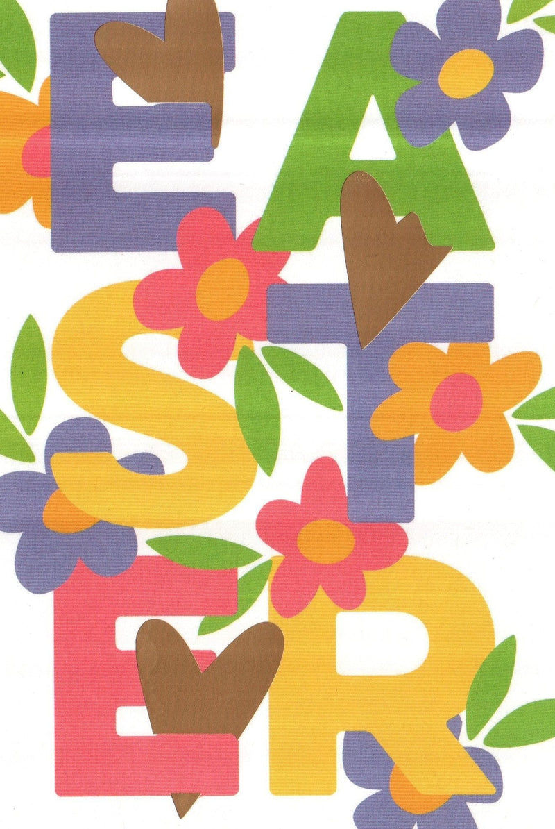 Floral Block Letter Easter Greeting Card