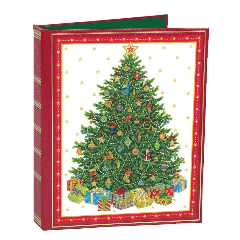 Tree with Packages Christmas Card Address Book