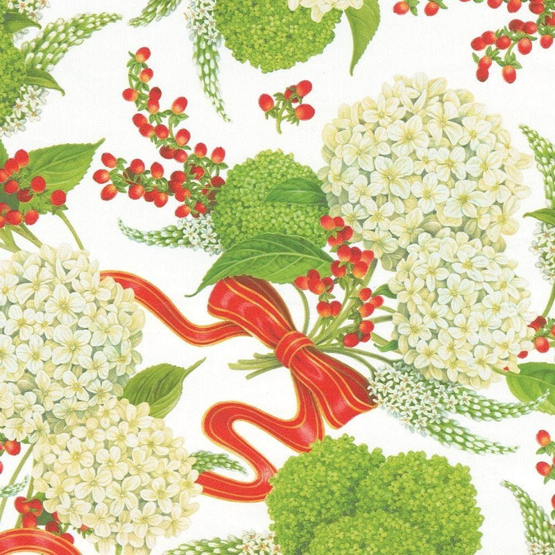 Snowball Hydrangeas Gift Wrapping Paper in White