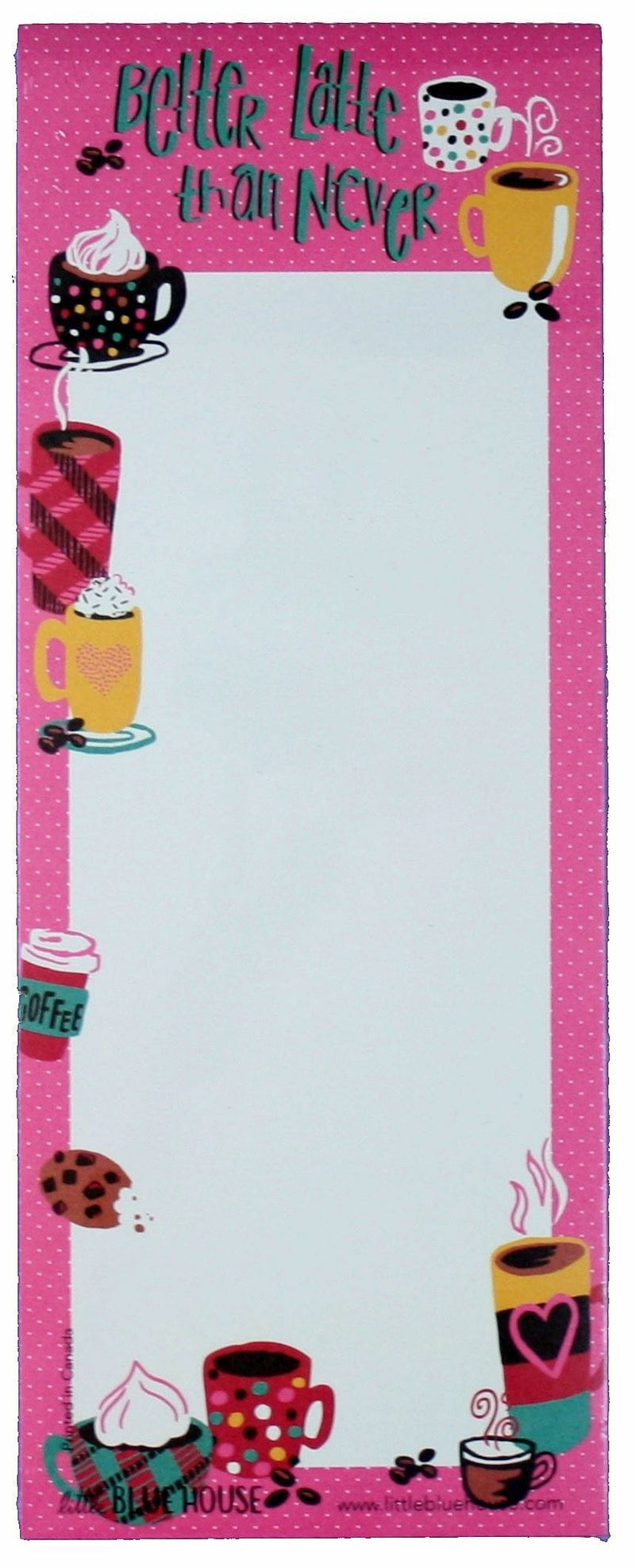 Hatley Magnetic List Pad - Better Latte Than Never