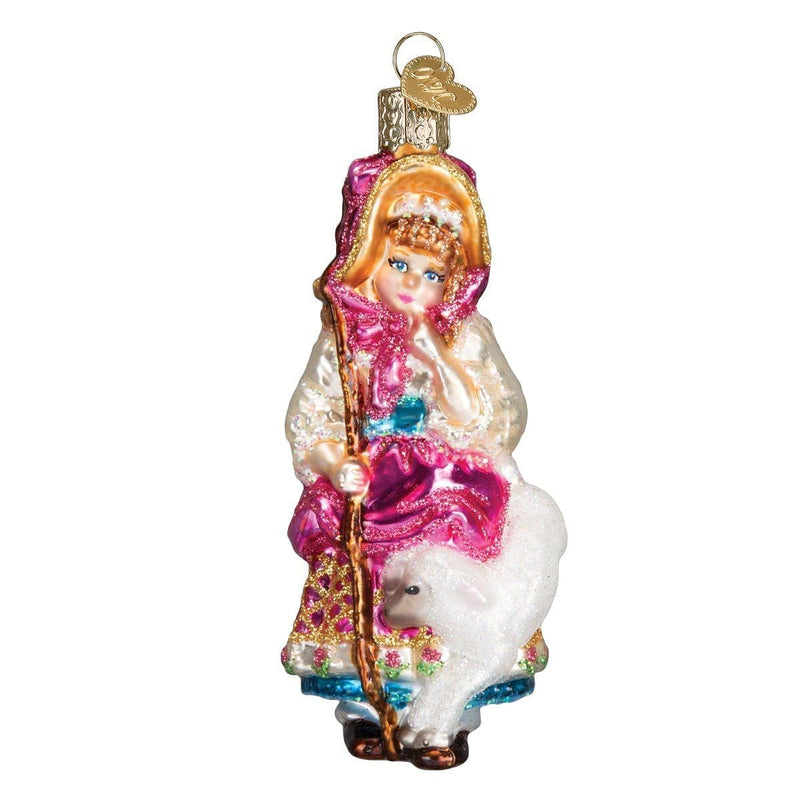Little Bo Peep Glass Ornament