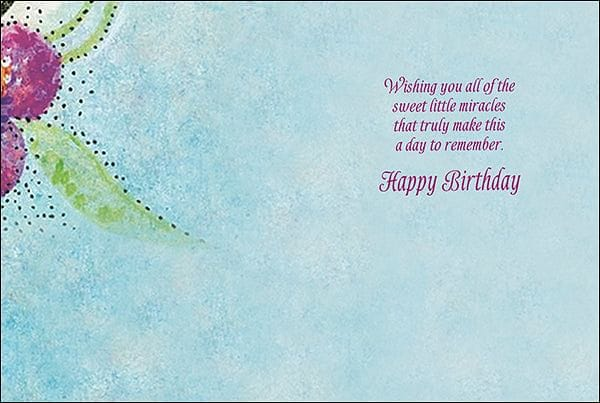Birthday Card: Wishing you all the sweet little miracles