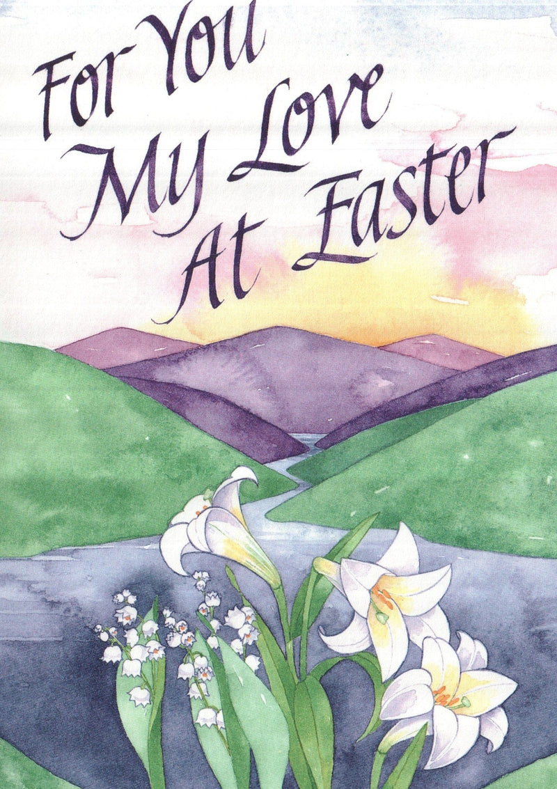 My love at Easter Greeting Card
