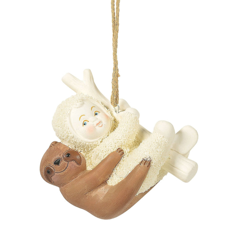 Swinging with a Sloth Ornament