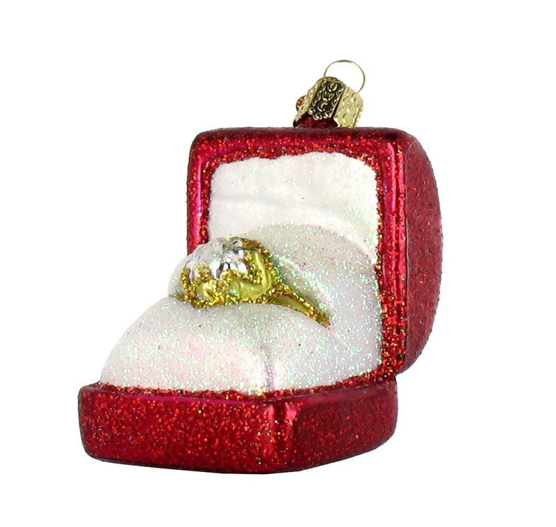 Old World Christmas Ring In Box Glass Blown Ornament