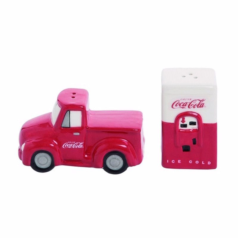 Coca-Cola Truck Coke Machine Salt and Pepper Set