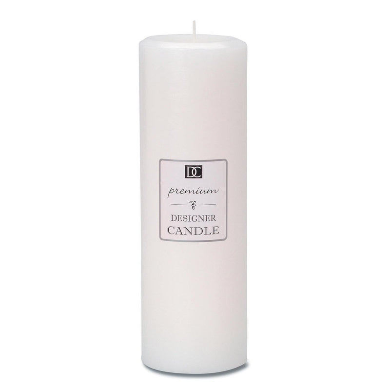 Pillar Candle - White - Linen Scented - 2.8 x 8.8 inches