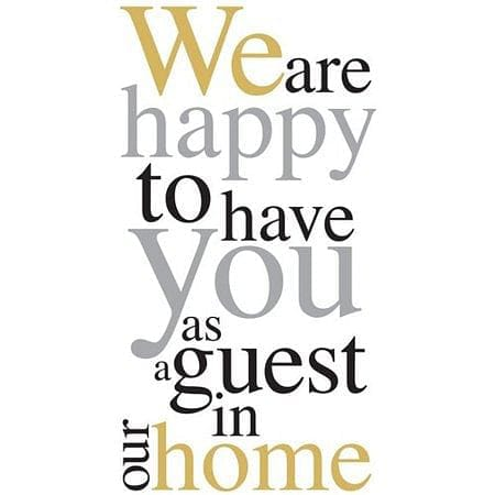 Happy To Have You Guest Towel