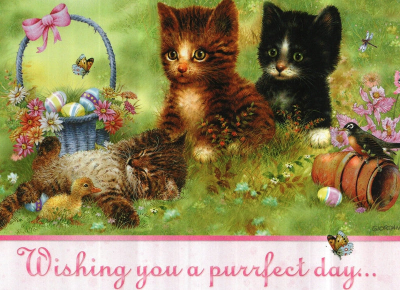 Wishing you a purrfect day Easter Card