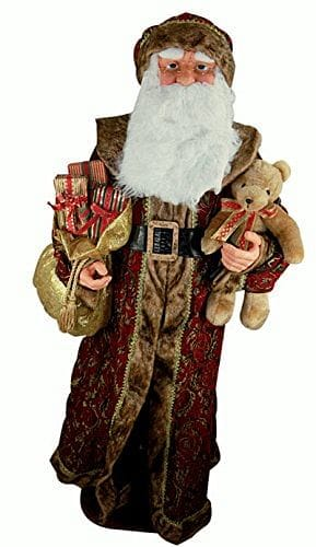 "72"" Santa Dressed in Brocade - He Sings & Dances"