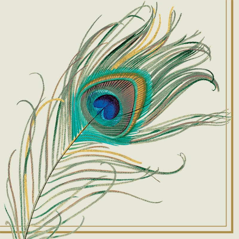 Peacock Feather Lunch Napkin