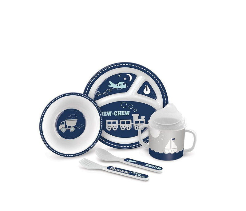 Chew Chew Train And Plane Baby Feeding Gift Set