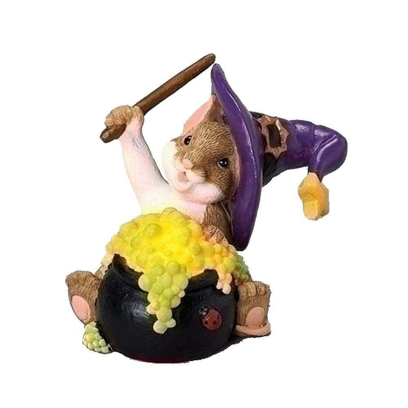 Light Up Cauldron Halloween Figurine