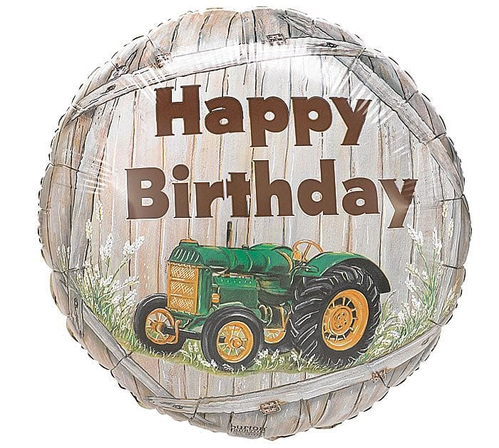 Happy Birthday Tractor Foil Balloon - Shelburne Country Store