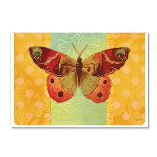 Butterfly With Glitter Blank Card
