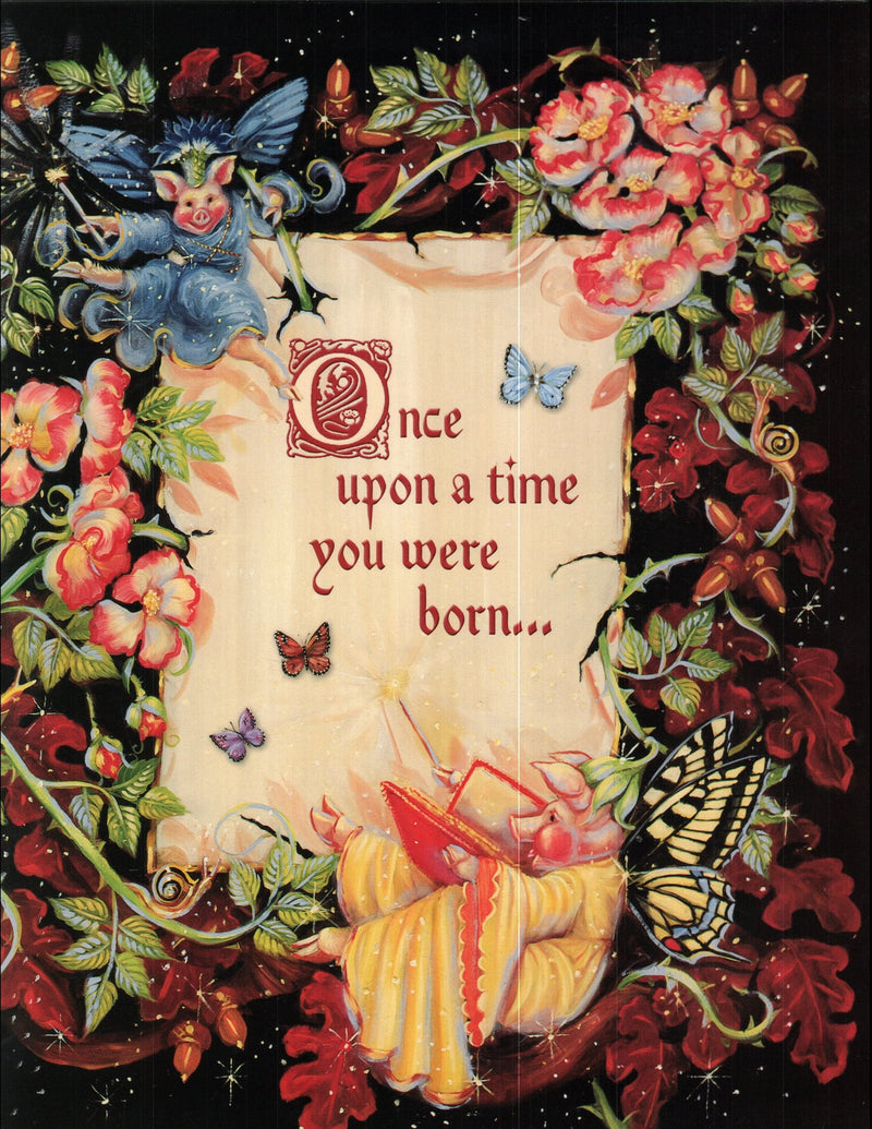Once upon a time birthday card