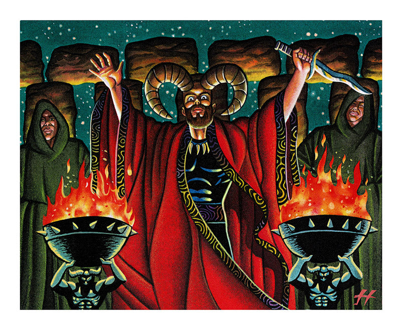 Magic the Gathering: Dark Ritual Art Print by Justin Hampton
