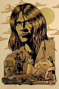 Previously unreleased 2012 Neil Young- hand remarqued 'Harvest' variant