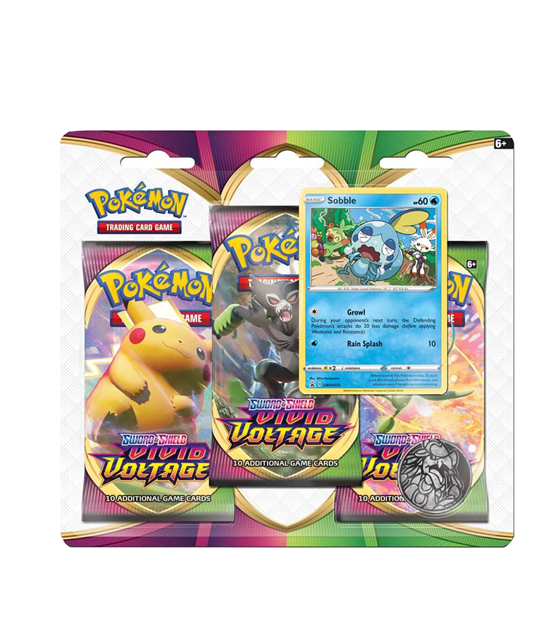 POKÉMON TCG Sword and Shield- Vivid Voltage Three Booster Blister